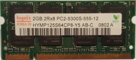 Laptopgeheugen Hynix 2gb DDR2 667MHZ (5300)